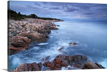 Coastal granite rocks, Cape Breton Highlands National Park, Gulf of St. Lawrence