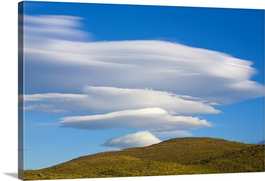 lenticular clouds torres del paine chile photo canvas