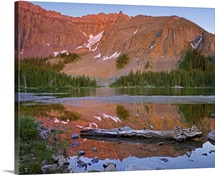 Palmyra Peak reflected in Alta Lake near Telluride, Colorado