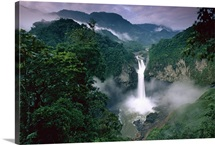 San Rafael or Coca Falls on the Quijos River, Amazon, Ecuador