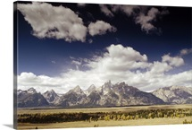 Teton Range, Snake River Valley, Grand Teton National Park, Wyoming