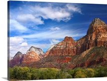 The Watchman outcropping near south entrance of Zion National Park Utah