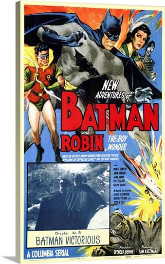 Batman And Robin 1949 Photo Canvas Print Great Big Canvas