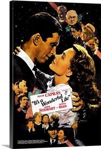 Its A Wonderful Life 1946 Photo Canvas Print Great Big Canvas