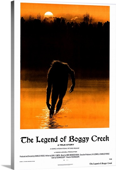 Legend of Boggy Creek (1973) Photo Canvas Print | Great ... The Legend Is True Boggy Creek
