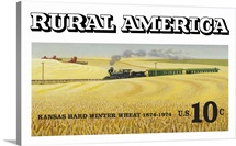 Kansas Hard Winter Wheat Postage Stamp Art