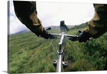 A biker's view, Lake Clark National Park and Preserve, Alaska Range, Alaska