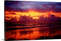 A multi hued sunset over Marco Island