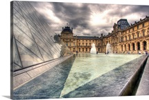 A view of a part of the Louvre from adjacent to the Louvre Pyramid