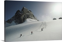 Alpine skiing, Bugaboos Ski Area, Purcell Mountains, Rocky Mountains, Canada