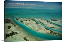 An aerial view of Ambergris Cay, Belize