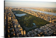 An aerial view of Central Park, Manhattan, New York City