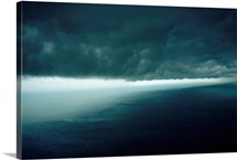 An ominous squall line sweeps in from the Timor Sea