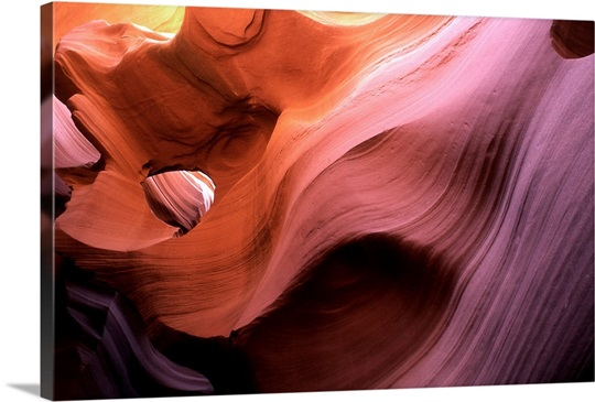 Antelope Canyon in warm light, Navajo Reservation, Arizona