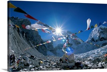 Base-camp, for Everest expeditions, Mount Everest, Khumbu Region, Nepal