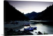 Camped on a sandbar on the Main Fork of the Salmon River, Idaho