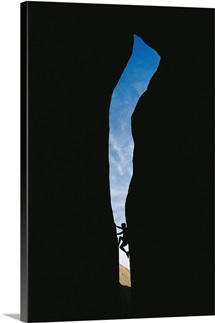 Canyoneer in slot canyon, Arizona and Utah border
