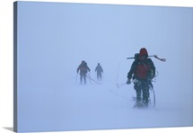 Climbers face blizzard like conditions on their way up Denali