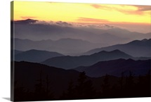 Clingmans Dome is the highest point in Tennessee at 6,643 feet