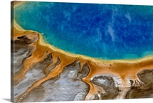 Grand Prismatic Spring, aerial view, Yellowstone National Park