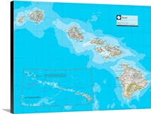 NGS Atlas of the World 8th Ed. political map of the Hawaiian Islands