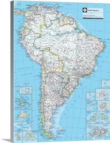 NGS Atlas of the World 8th Edition political map of South America