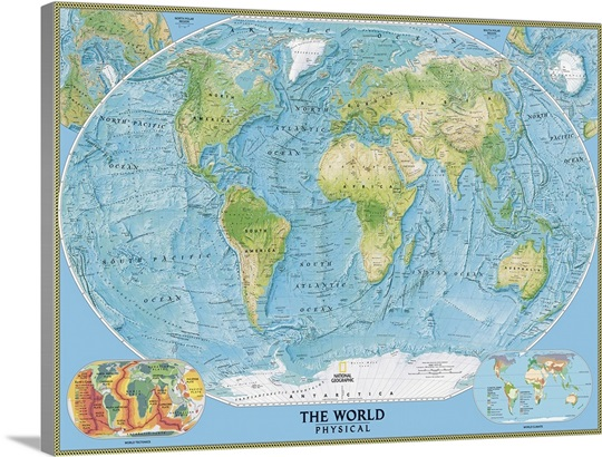 NGS physical map of the World