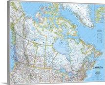 NGS political map of Canada