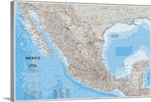 NGS political map of Mexico