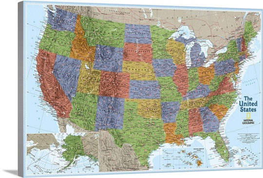 NGS political map of The United States of America