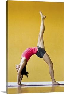 One legged backbend or Eka Pada Urdhva Dhanurasana
