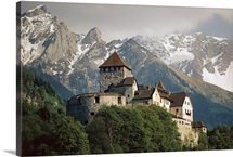 Romanesque architecture of Vaduz Castle, Vaduz, Liechtenstein