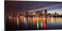 The beautiful skyline of Toronto