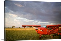 The Cessna makes a pit stop to refuel on the Serengeti