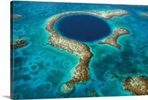 The deep sinkhole in reef, Blue Hole Natural Monument, Belize