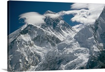 The extreme terrain of Mount Everest