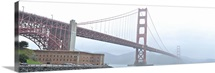 The Golden Gate Bridge and the Fort Point National Historic site