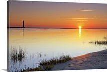 The Morris Island lighthouse at sunrise