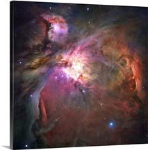 The Orion Nebula was born in enormous clouds of gas and dust