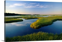 The tidal flats of Nauset Marsh in Eastham