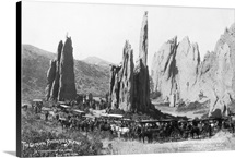 Ticket agents gathering at the Garden of the Gods