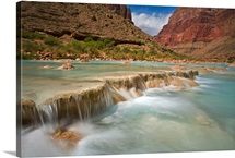 Travertine Falls, Little Colorado River, Grand Canyon National Park, Arizona