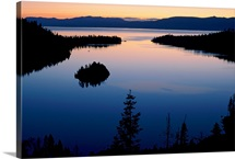 Twilight over Emerald Bay, Lake Tahoe, California