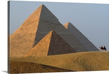 View of the Giza pyramids, Egypt