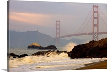 View of the Golden Gate Bridge from Baker Beach, San Francisco, California
