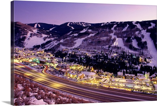 View over I-70, Vail, Colorado