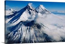 Volcanos: Kamen, Bezymianny, and Klyuchevskoy, Russia