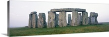 Wide angle view of the ancient ruins of Stonehenge