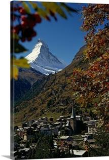 Zermatt village with the Matterhorn in the background, Switzerland