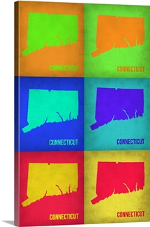 Connecticut Pop Art Map I